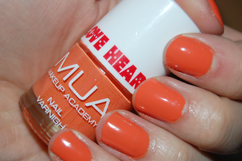 MUA Make Up Academy I Want YOu Love Hearts Nail Polish Orange
