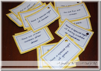 Birthday Board Activity Cards {A Sprinkle of This . . . . A Dash of That}