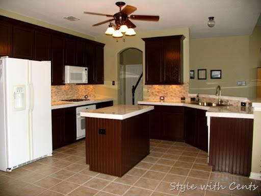 $750 Total Kitchen Remodel Sherwin Williams Turkish Coffee Bead Board  Cabinets 2
