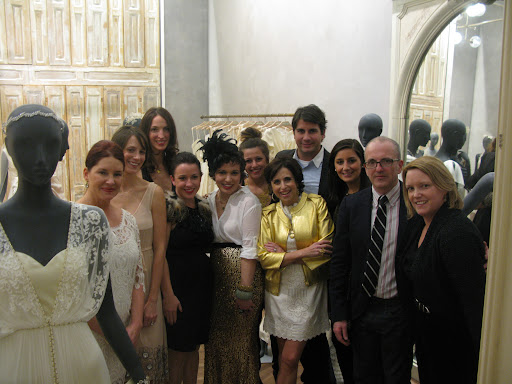 The BHLDN team and me, Anthony Luscia, Abigail Breene, and Amy Wilkins from Martha Stewart Weddings.