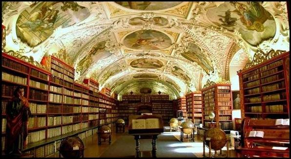Monastère de Strahov - Bibliothèque théologique, Prague, République tchèque