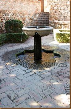 Malaga, alcazabar fountain