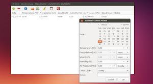 WeatherLog in Ubunutu Linux