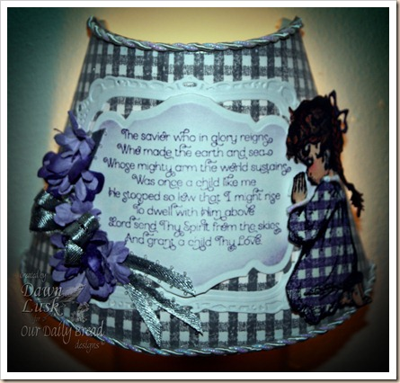 Precious Girl, Children's Prayer, Gingham Background, Our Daily Bread designs