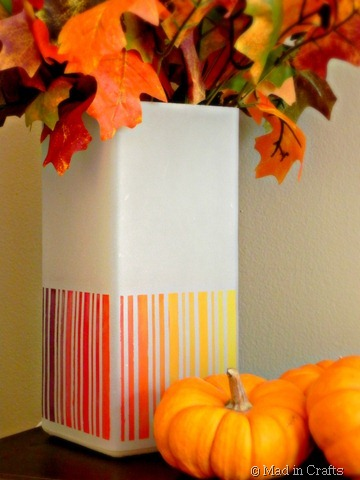 ombre lamp, IKEA lamp, fall colors, table lamp, modern vase