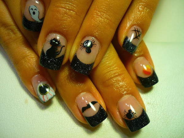 Jennifer2 Halloween Nails Art Design