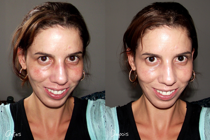 BB Cream Maybelline ANTES E DEPOIS