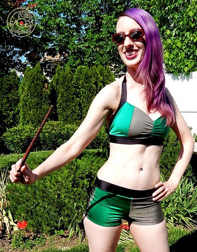 Harry Potter Slytherin Swimsuit from Bird Sews Stuff