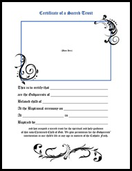 Godparent Certificate form