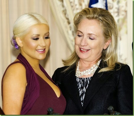 Christina-Aguilera-and-Hillary-Clinton