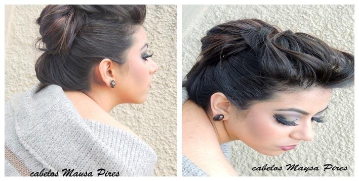 Coque–Penteado cabelo Preso com Elegância