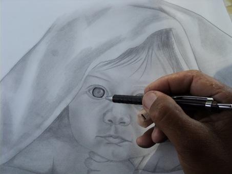 desenho de crianças a lápis 10