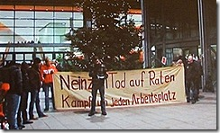 Trabalhadores da Opel em luta pelos postos de trabalho.Dez 2012