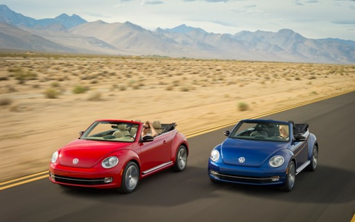 2013 Volkswagen Beetle Convertible in motion