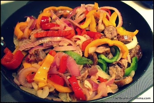 Grilled Sausage, Pepper & Onion Saute