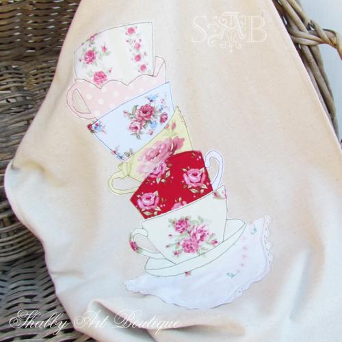 Shabby Art Boutique tea towel 3