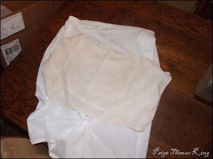 tea stained flour sack
