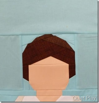 Paper pieced LEGO Padme