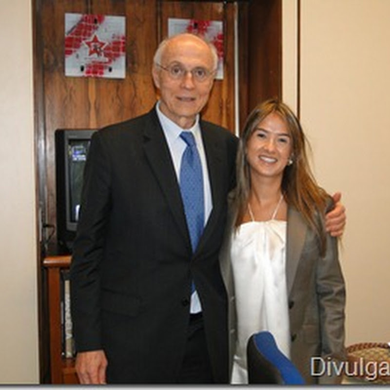 Senador Eduardo Suplicy e deputada Bruna Furlan apresentam o programa Renda Cidadã em Barueri