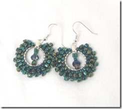 Peacock Earrings Card Photo