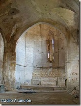 Interior iglesia de San Pedro de Lizarra -Estella
