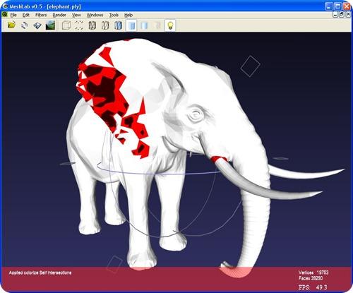 MeshLab.elephant