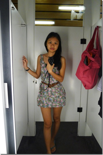 grey flora mini dress