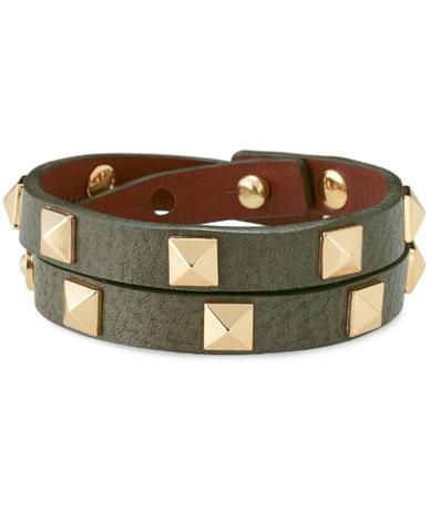 stella pyramid double wrap bracelet