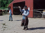 Its a cowboy life at Gilbert Ranch! We loved watching the wranglers twirl their ropes and work the horses