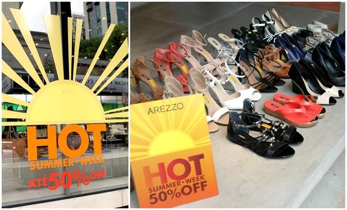 Promoção nas lojas AREZZO com até 50% de desconto – Hot Summer Week.