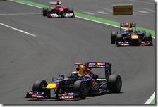 Le due Red Bull precedono Alonso nel gran premio d'Europa 2011