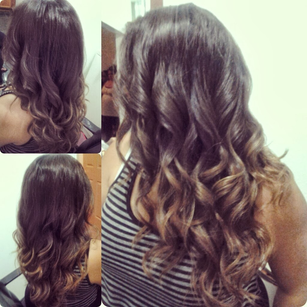 the gallery for gt ombre hair brown to caramel medium hair