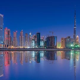 Dubai after the Rain by Walid Ahmad - Buildings & Architecture Public & Historical ( reflection, dubai, uae, buildings, cityscape, nikon, photography )