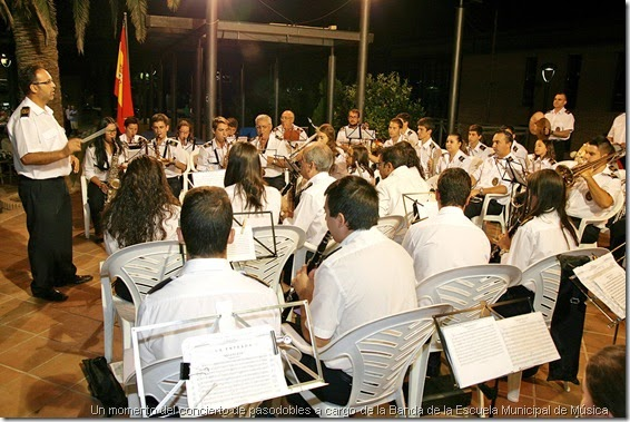 Un momento del concierto de pasodobles a cargo de la Banda de la Escuela Municipal de Música