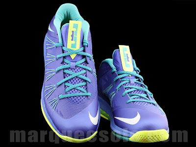 nike lebron 10 low gr blue green 2 04 A Look at LEBRON X Low Hornets. You Can Call Them Sprites Too.