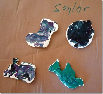 saylor finished ornaments