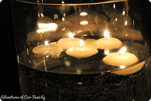 valentine's date hurricane floating candles