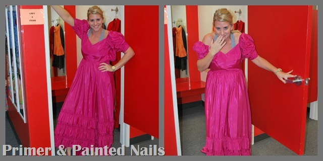 Pink Dress 2 - Primer & Painted Nails