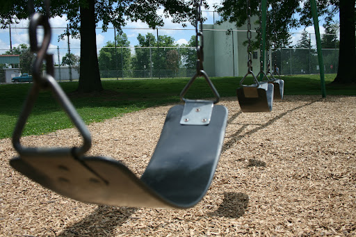 Swings hang empty on a Summer day in Springfield. (photo credit: James Mulvenon)