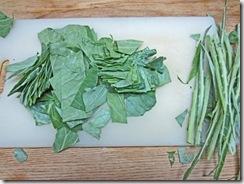 prepped collard  greens
