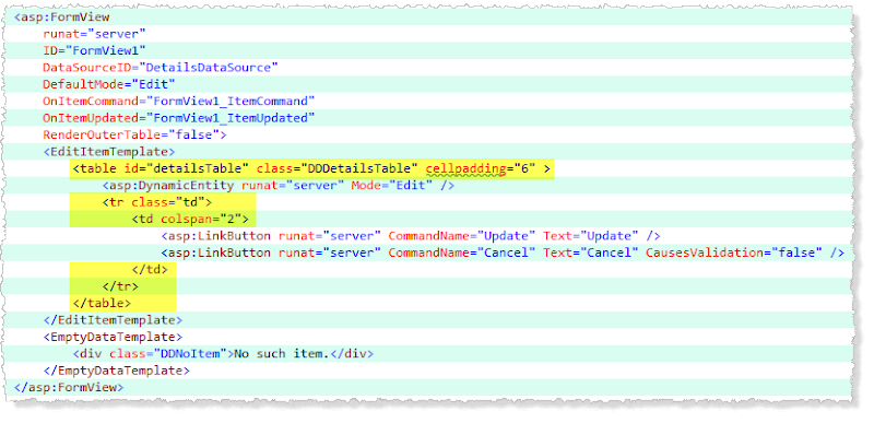 C# Bits: Converting the Dynamic Data Project Template to Bootstrap