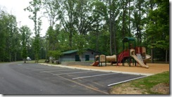 Playground and bathhouse at Gunter Hill COE