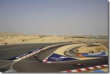 Una fase della gara in Bahrain del 2013