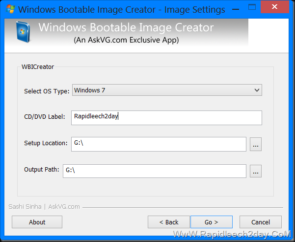 Windows Bootable Image Creator v1.2