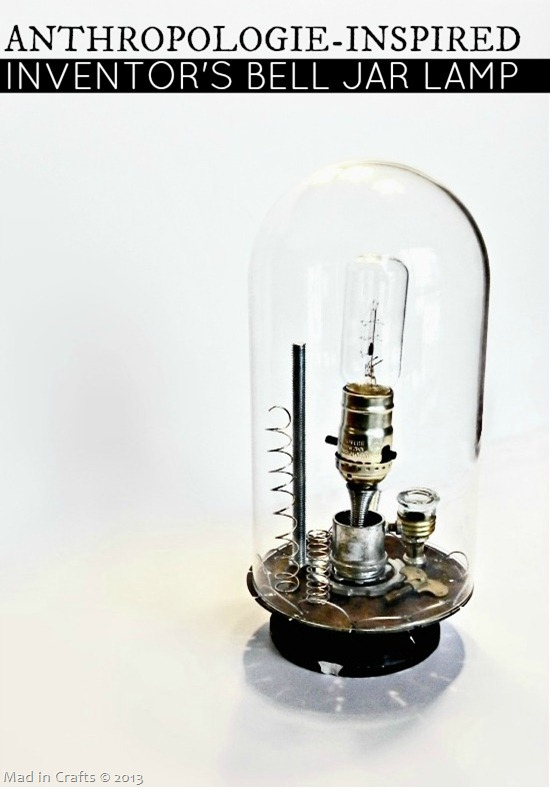 Anthropologie Inspired Inventor&#39;s Bell Jar Lamp