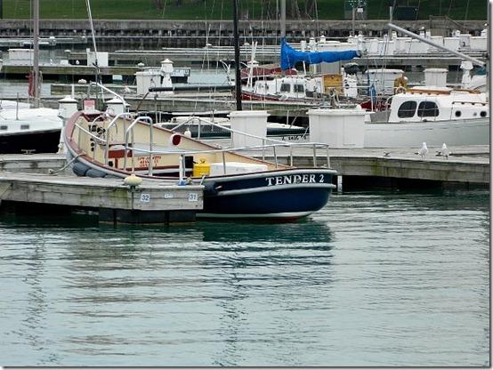Montrose Harbor boat