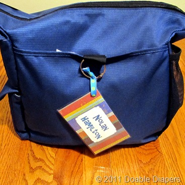 Church Nursery Diaper Bag Tags http://doablediapers.blogspot.com/2011/09/diaper-boo-boos-and-bag-tag.html