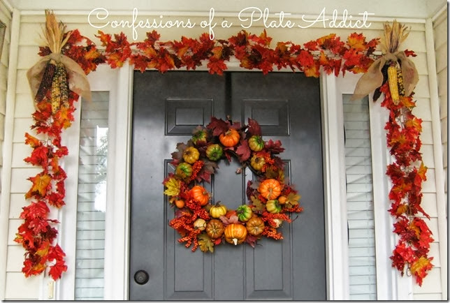 CONFESSIONS OF A PLATE ADDICT Fall Wreath and Garland
