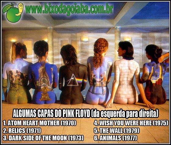 6 capas do Pink Floyd pintadas nos corpos de mulheres nuas