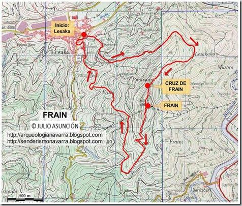 Mapa ruta Frain